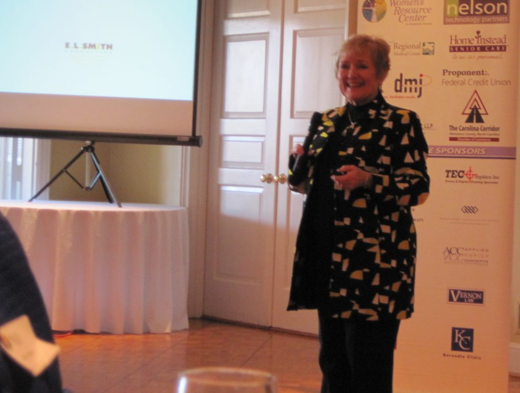 Betsy Smith, PhD speaking at Working Women's Wednesdays