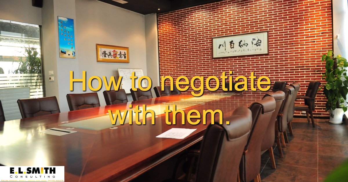 How to Negotiate - E.L.Smith Consulting