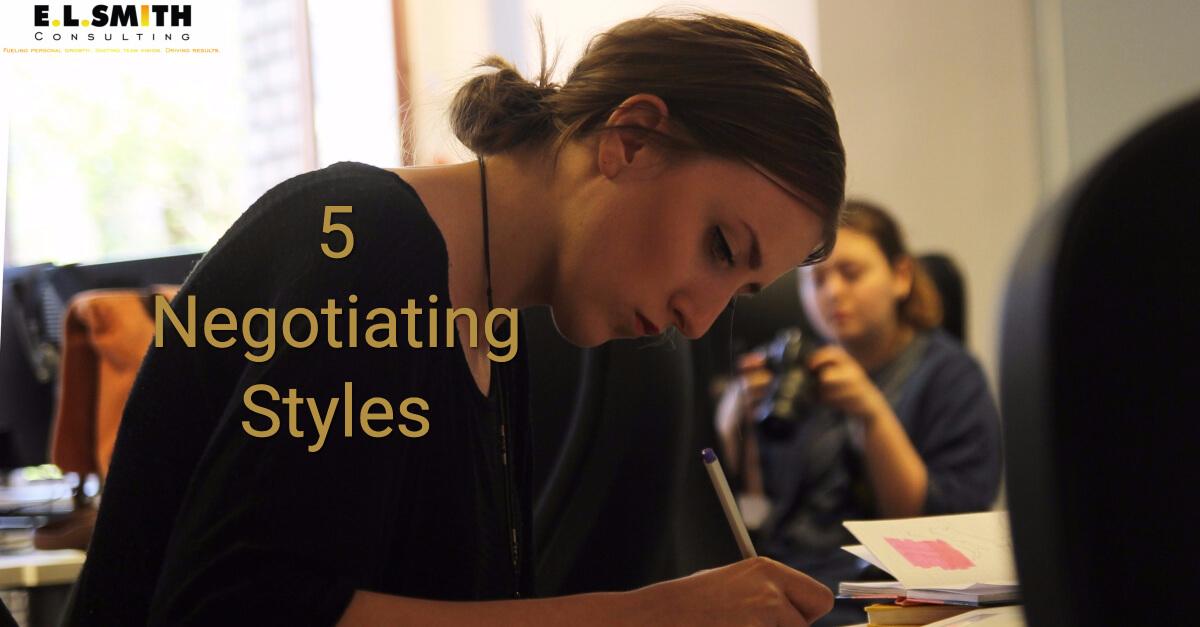 5 Negotiation Styles - EL Smith Consulting
